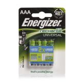 Energizer AAA 500 mAh Rechargeable Batteries NiMH HR03 1.2V (4 pack)